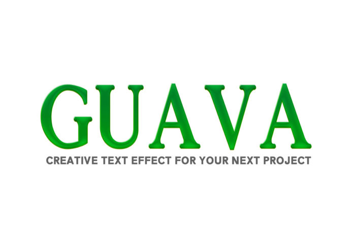 Free Guava PSD Text Effect