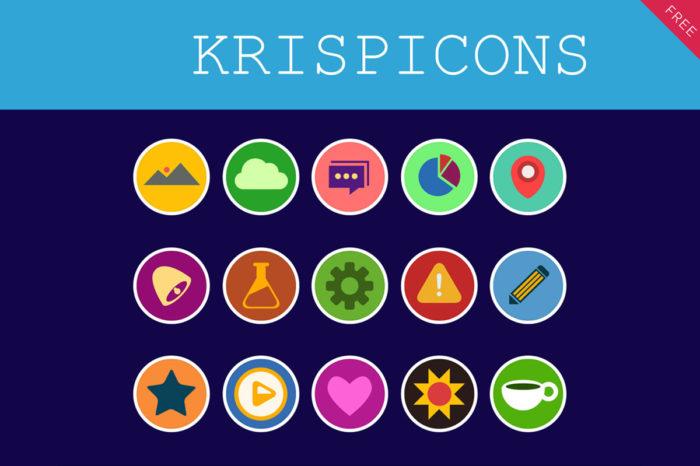 Free Krispicons Modern Flat Icons