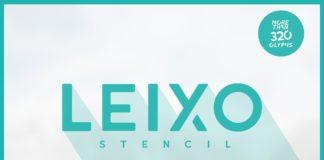 Free Leixo Stencil Font