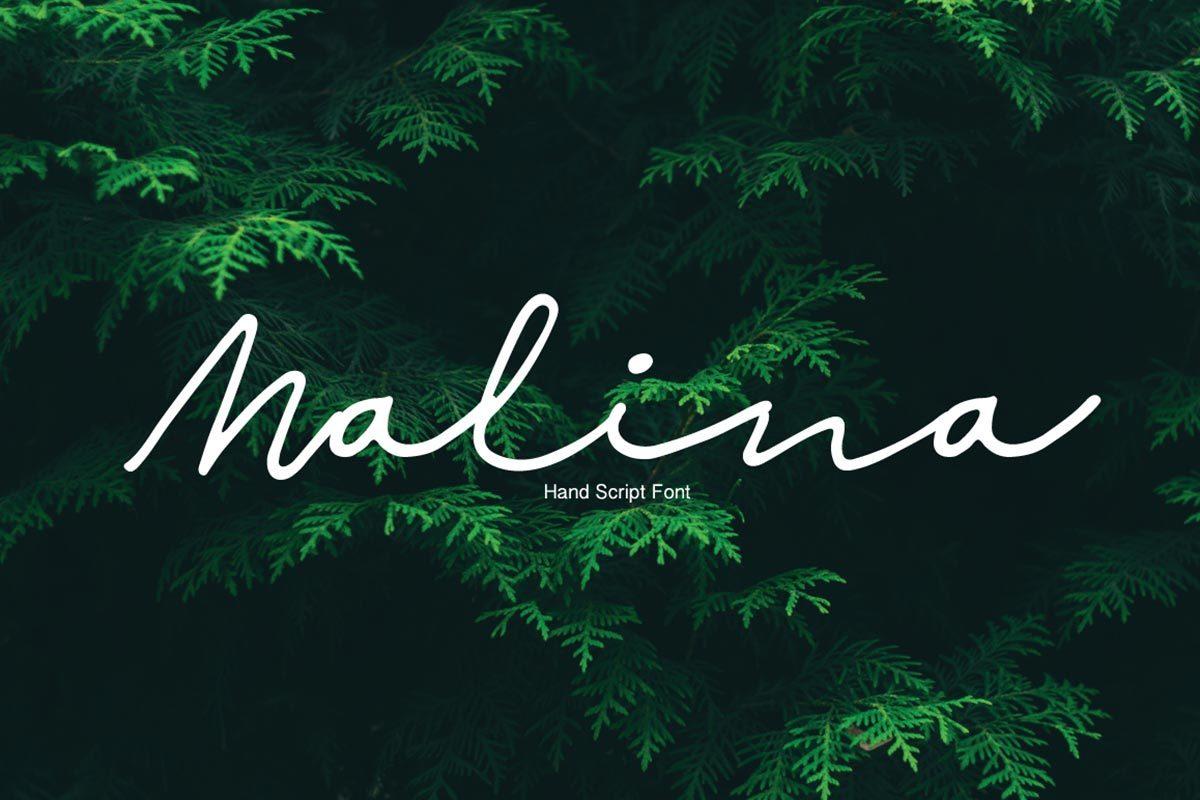 Free Malina Hand Script Font