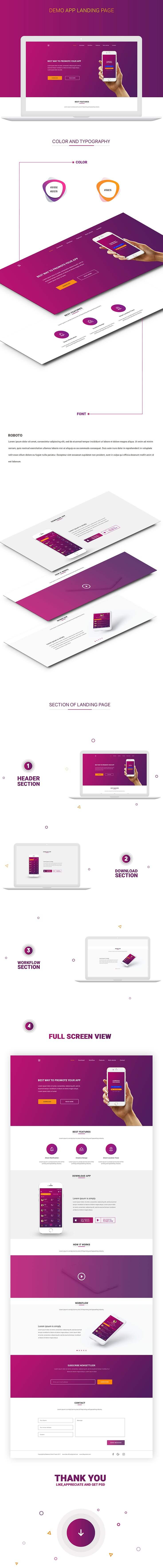 Free Money Exchange App Landing Page Design PSD