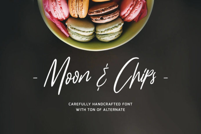 Free Moon Chips Script Font