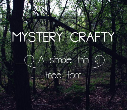 Free Mystery Crafty Hand Lettering Font