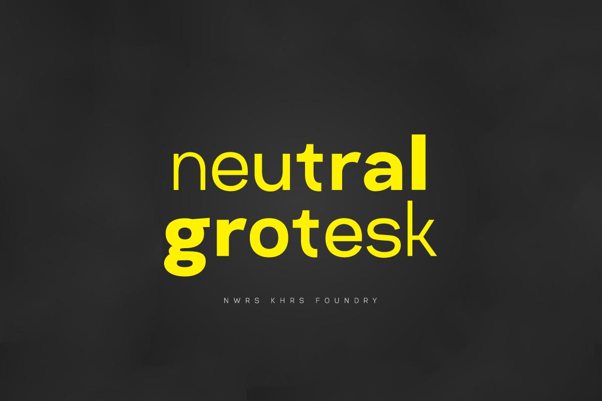 Free Neutral Grotesk Typeface