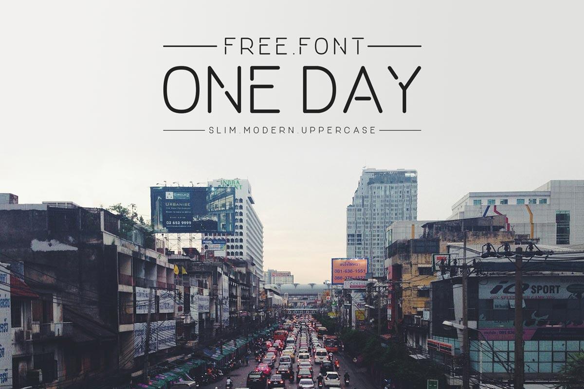 Free ONE DAY Sans Serif Font