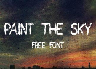 Free Paint Sky Brush Font