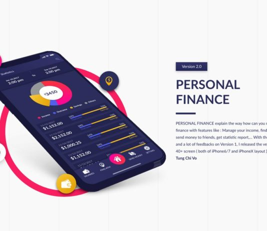 Free Personal Finance Adobe XD