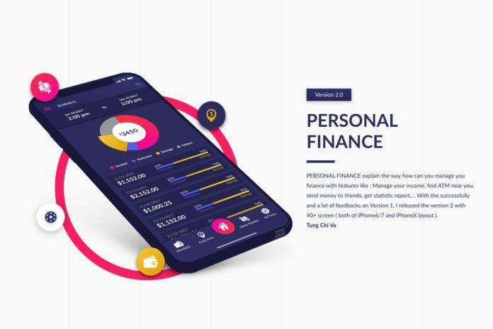 Free Personal Finance Adobe XD