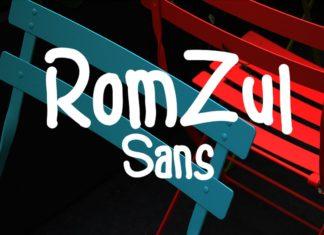 Free Romzul Sans Serif Font