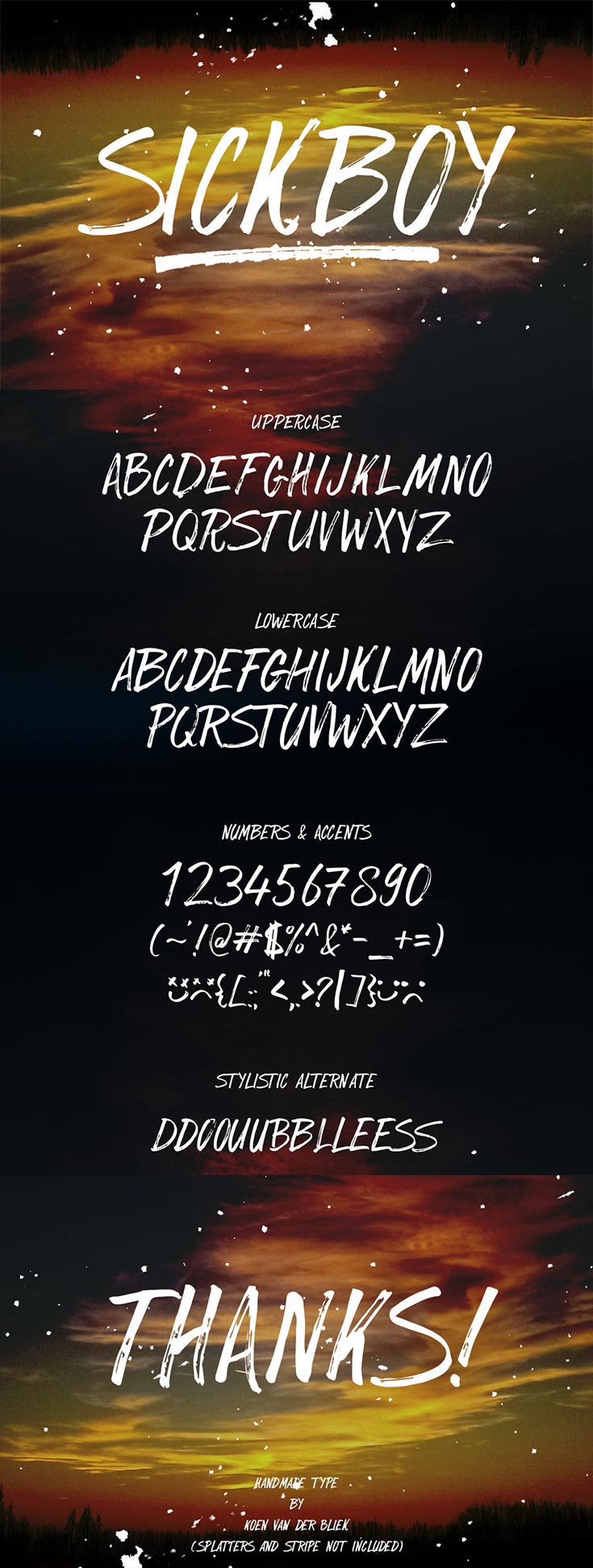 Free SickBoy Handwritten Display Font