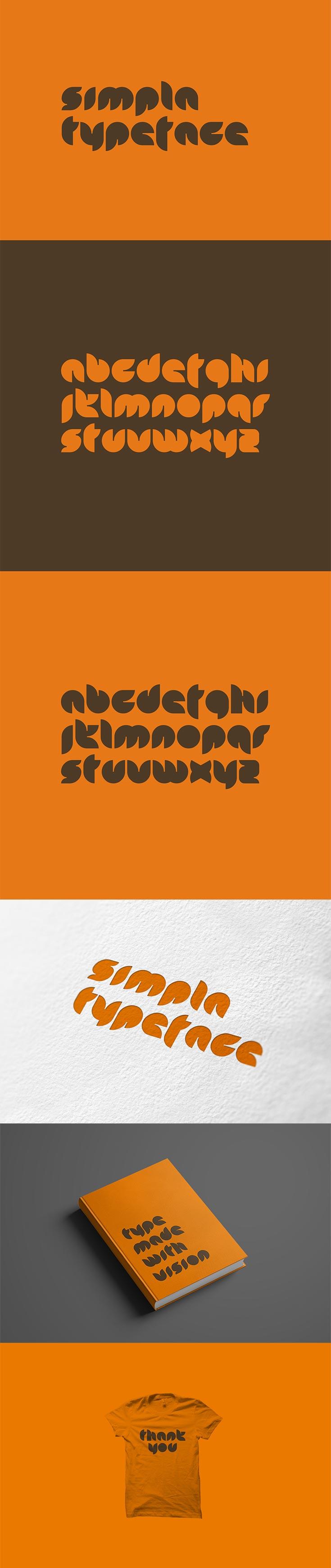 Free Simpla Decorative Typeface