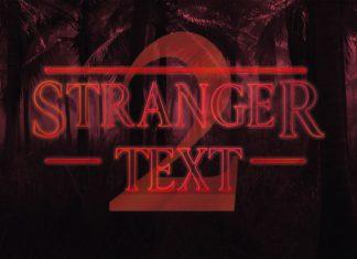 Free Stranger Things Season 2 PSD Text Style