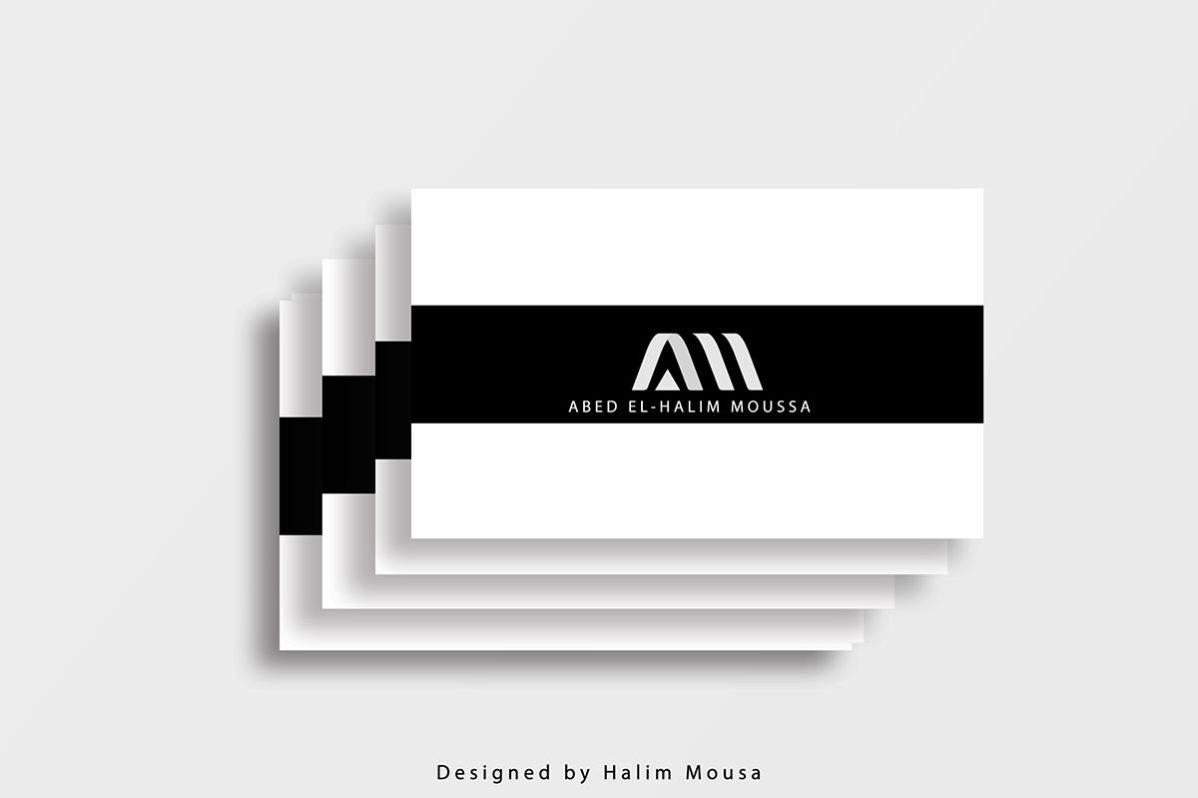 Free Striped Business Card Mockup
