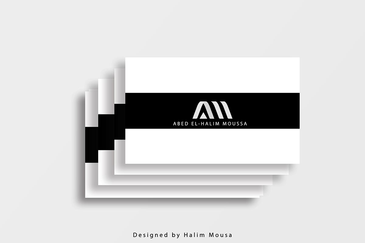 Free Striped Business Card Mockup