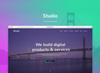 Free Studio Adobe Xd Template