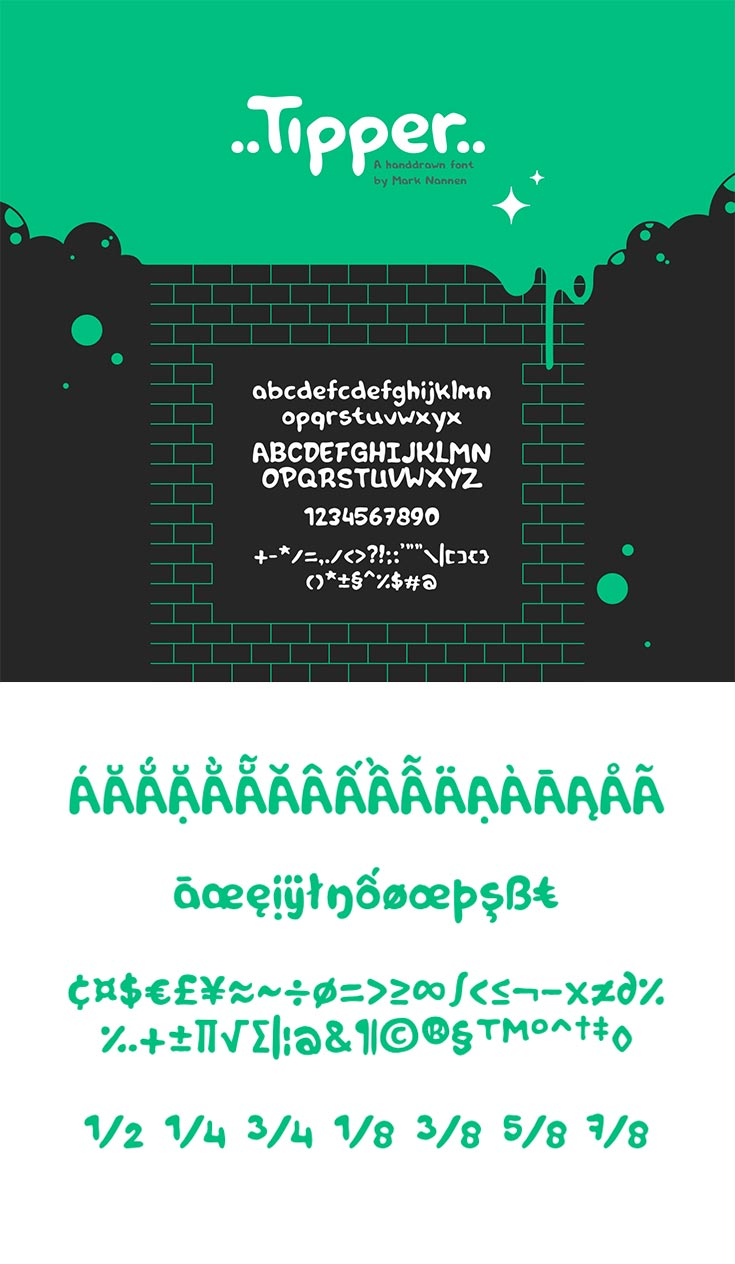 Free Tipper Handdrawn Font