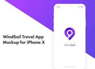 Free Windsail Travel App Mockup