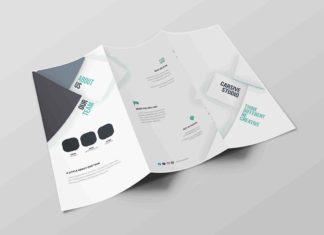 Free Tri-Fold Brochure PSD Template