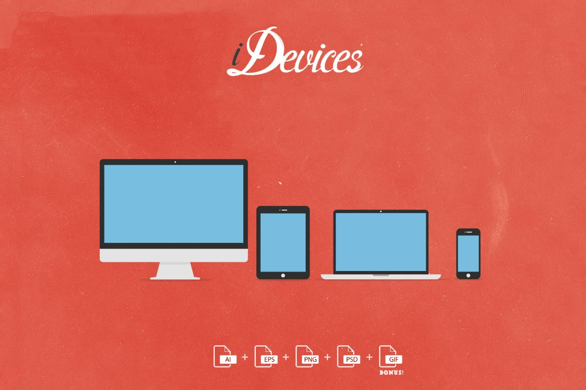 Free Vector Flat iDevices Icons