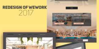 Free WeWork Redesign PSD Template