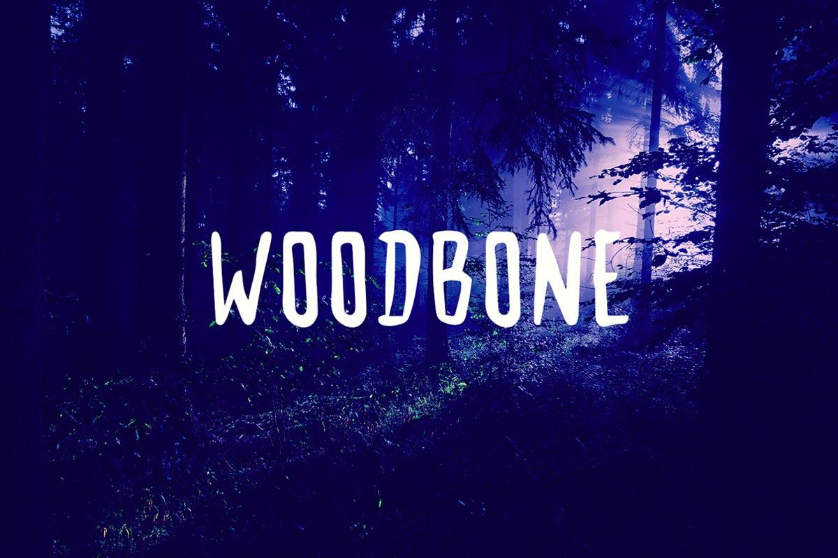Free Woodbone Brush Font