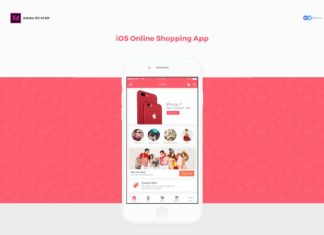 Free iOS Online Shopping App Adobe XD