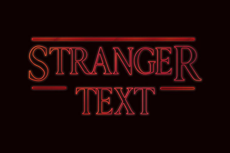 Free Stranger Things PSD Text Style