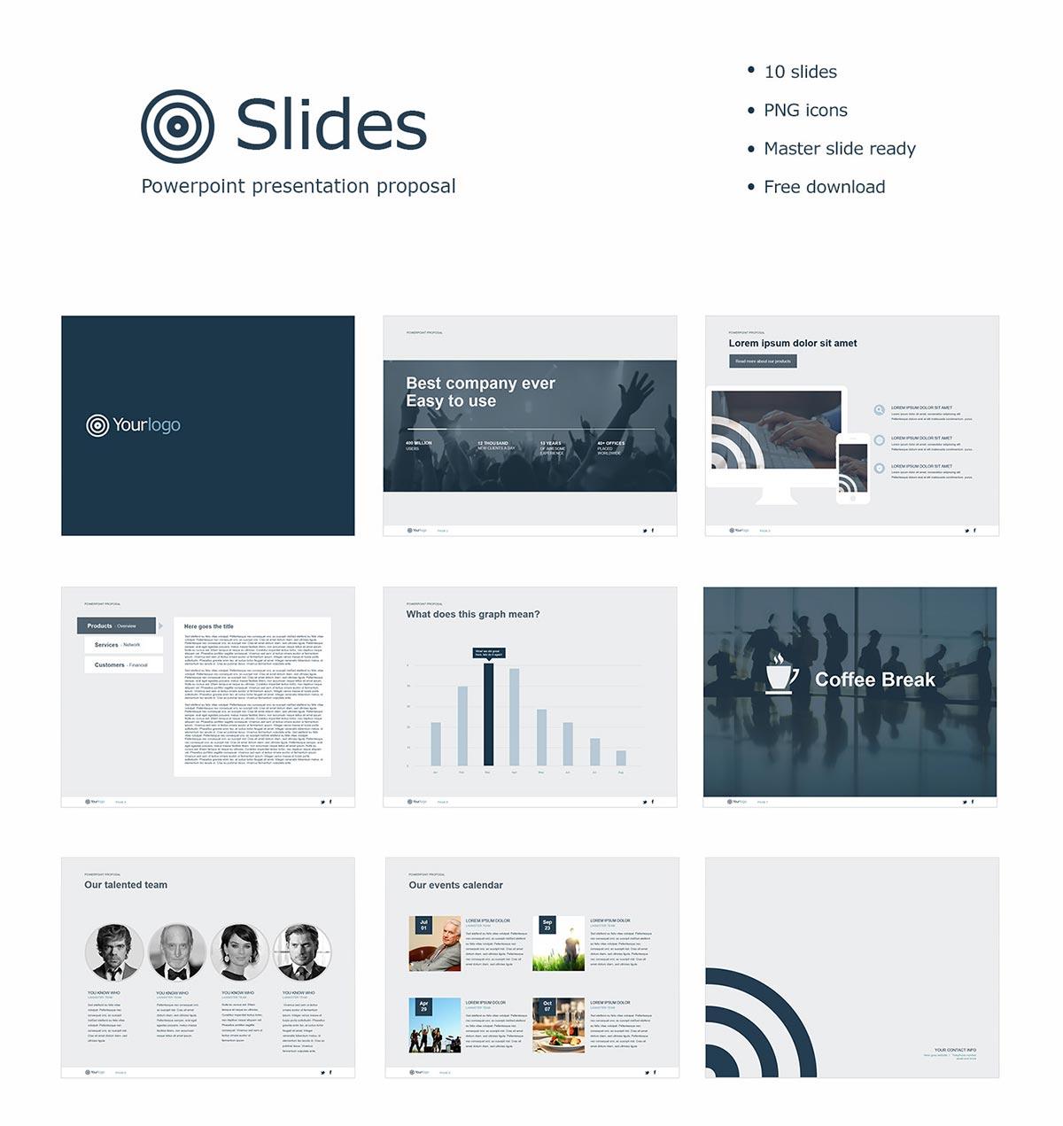 10 Free Slide Powerpoint Presentation Proposal