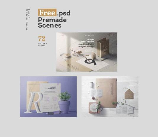 3 Free Premade Scenes PSD