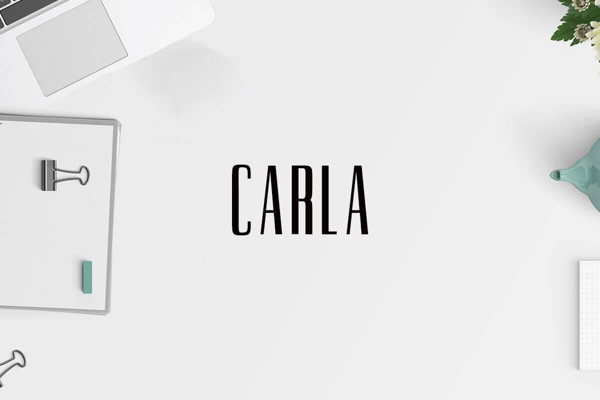 Free Carla Sans Serif Demo Font
