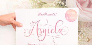Free Asyiela Script Font