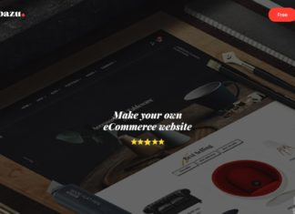 Free BAZU Responsive eCommerce PSD Template