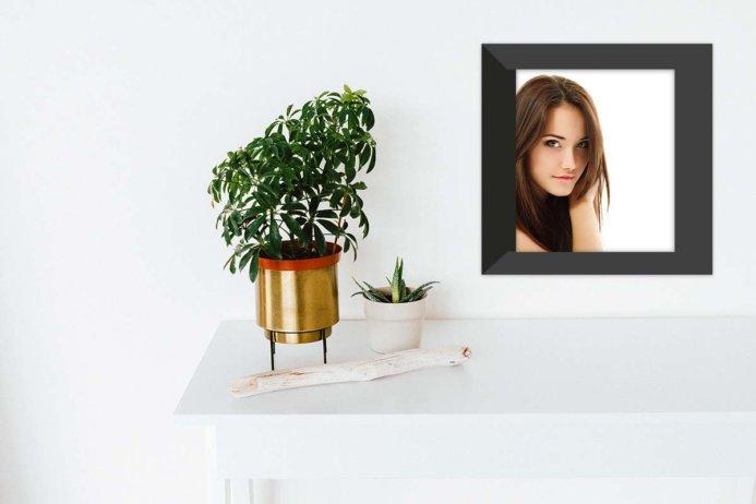 Free Black Wall Frame Portrait Mockup PSD