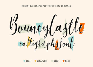 Free Bouncy Castle Modern Calligraphy Font Family