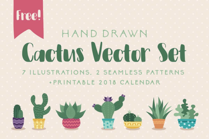 Free Cactus Vector Set