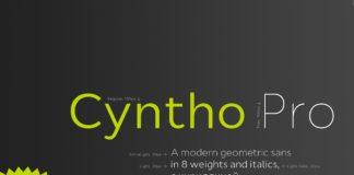 Free Cyntho Pro Sans Serif Typeface