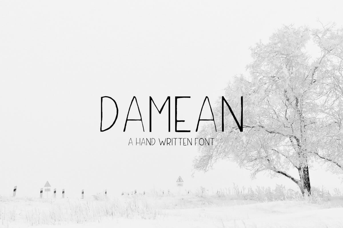 Free Damean Handmade Demo Font