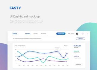 Free Fasty UI Dashboard Mockup