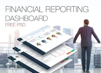 Free Financial Reporting Dashboard PSD