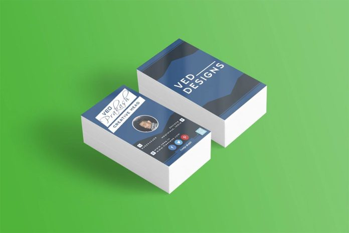 Free Flat Business Card Mockup