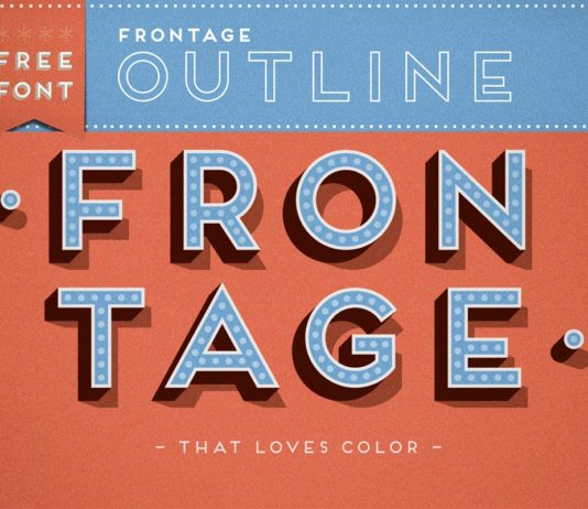 Free Frontage Outline Display Font