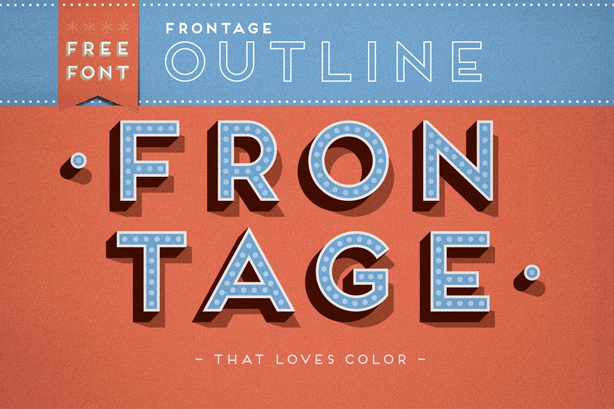 Free Frontage Outline Display Font - Creativetacos