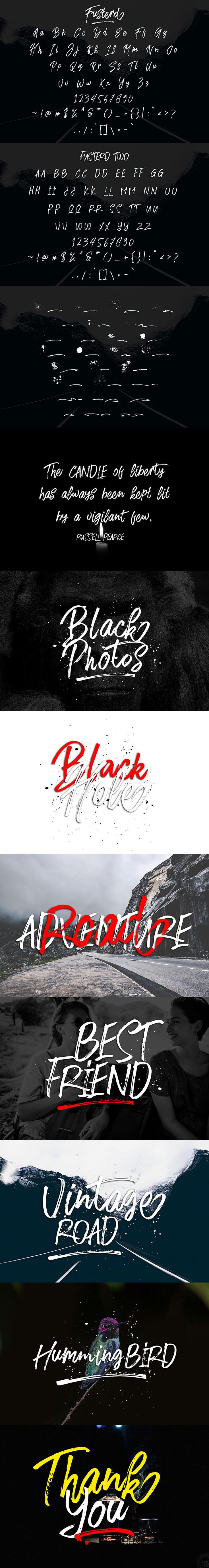 Free Fusterd Brush Typeface