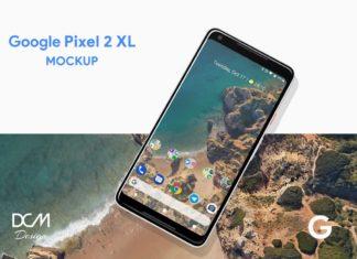 Free Google Pixel 2 XL PSD Screen Mockup