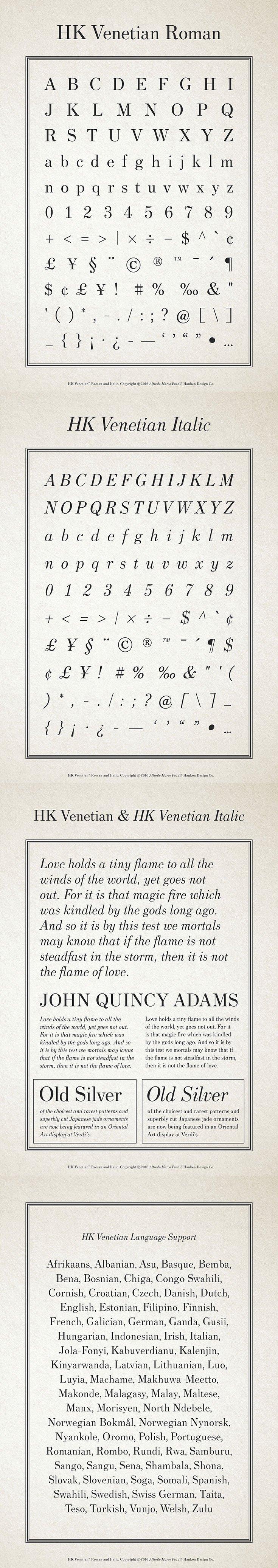 Free HK Venetian Font