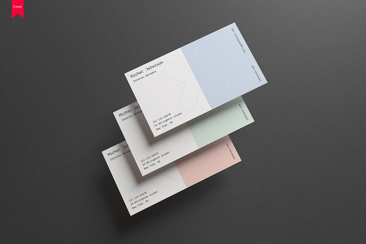 Free horizontal business cards mockup creativetacos free horizontal business cards mockup reheart Image collections