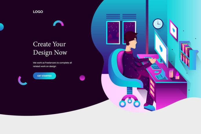 Free Landing Page Design PSD