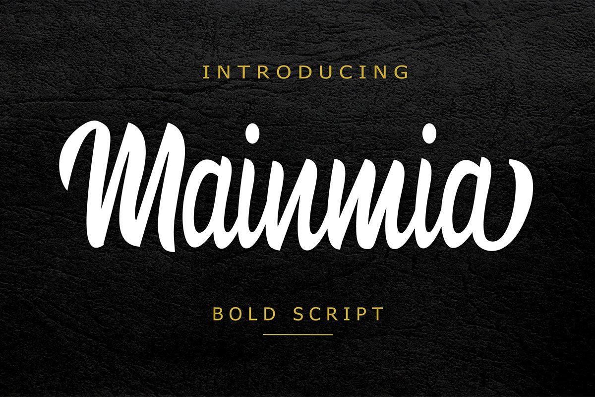 Free Mainmia Script Font