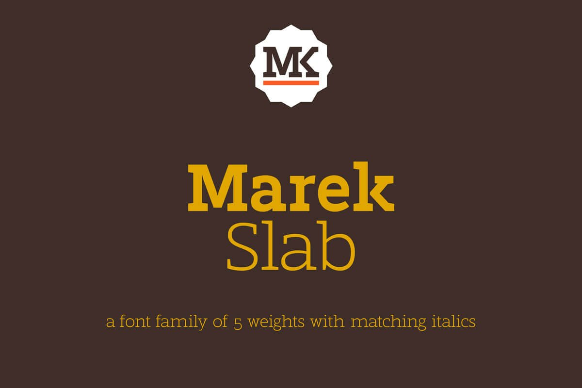 Free Marek Slab Font Family