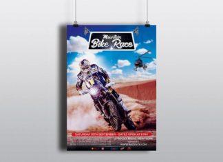 Free Motorcycle Racing Flyer
